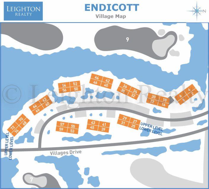 Endicott Village Map - Ocean Edge