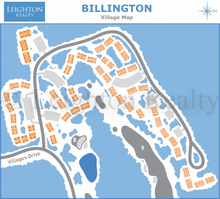 Billington Village Map - Ocean Edge