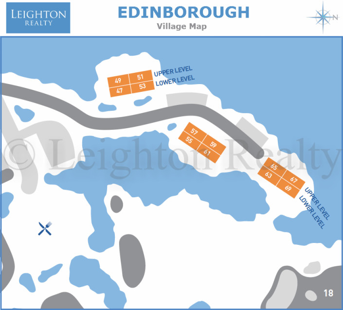 Edinborough Village Map - Ocean Edge