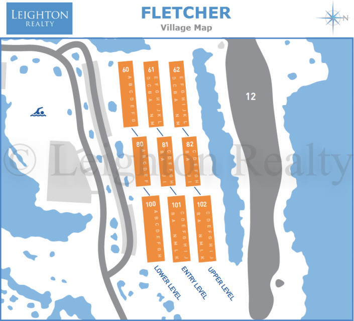 Fletcher Village Map - Ocean Edge
