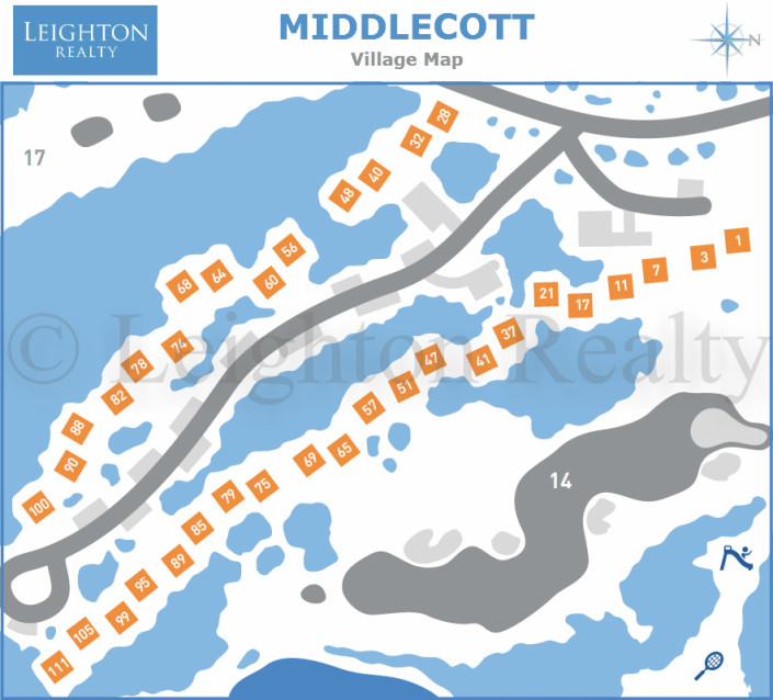Middlecott Village Map - Ocean Edge