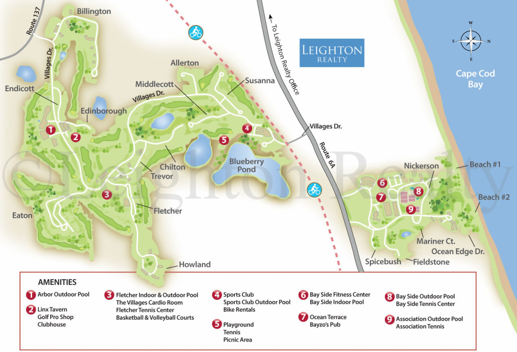 Resort Map - Ocean Edge Brewster Cape Cod