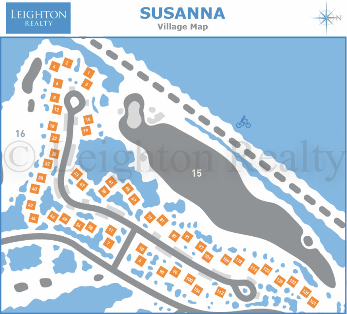 Susanna Village Map - Ocean Edge